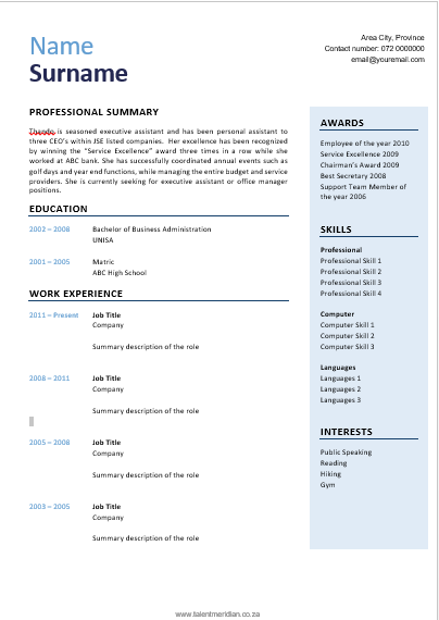 download free cv templates   u2013 phiona martin